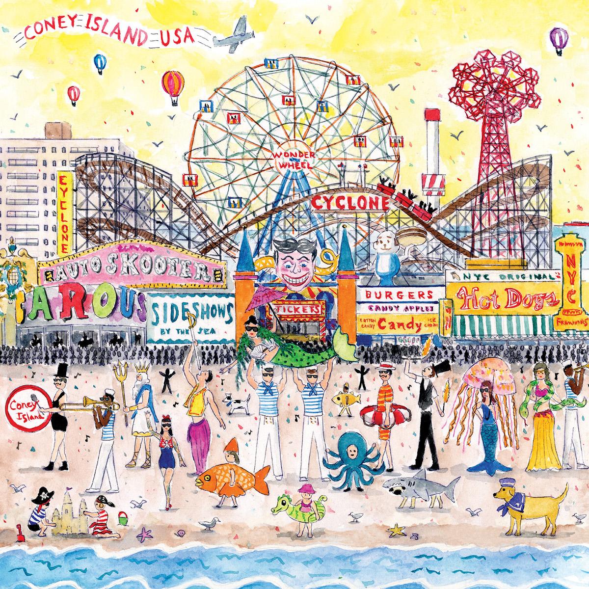 Summer at the Amusement Park Beach Jigsaw Puzzle