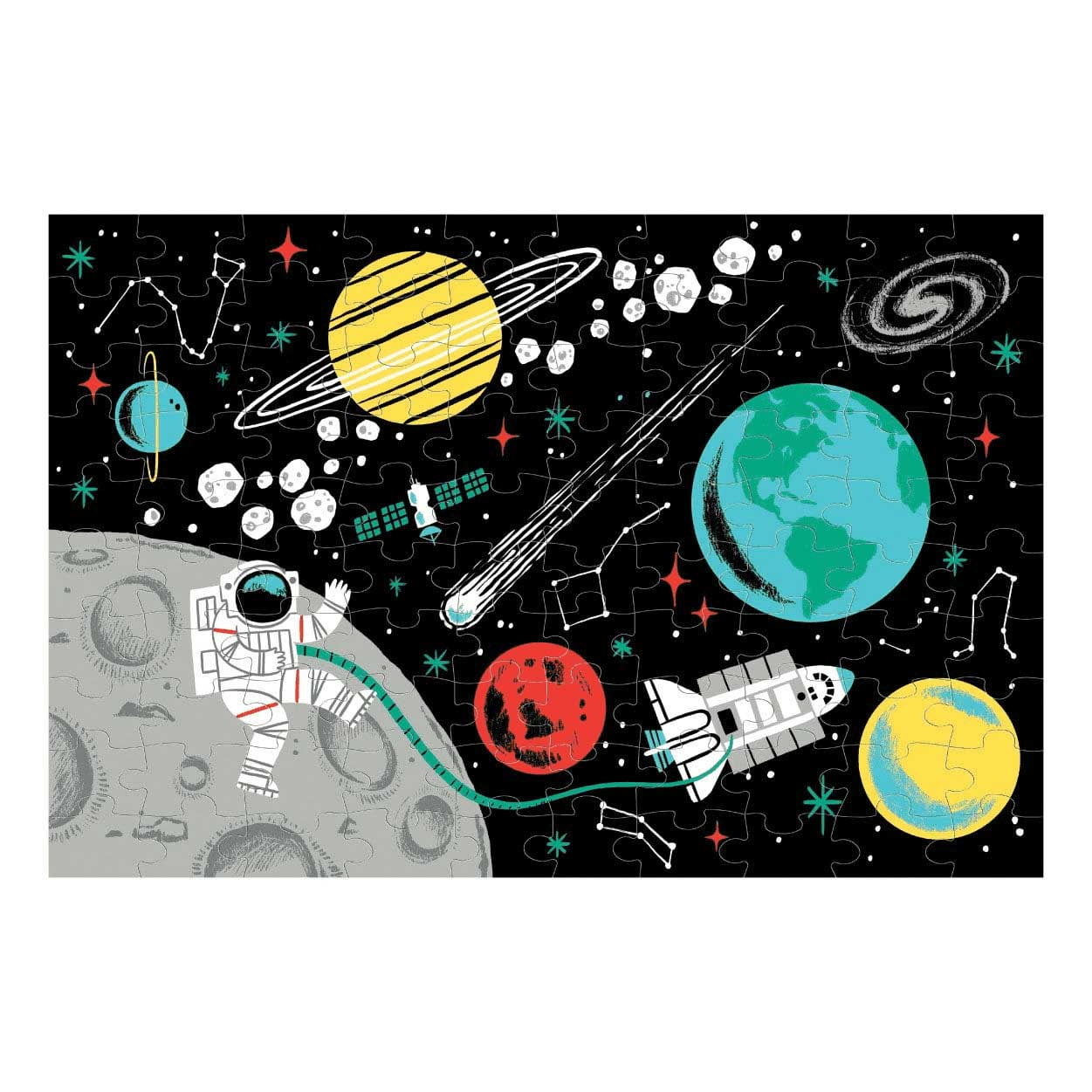 Outer Space Space Glow in the Dark Puzzle