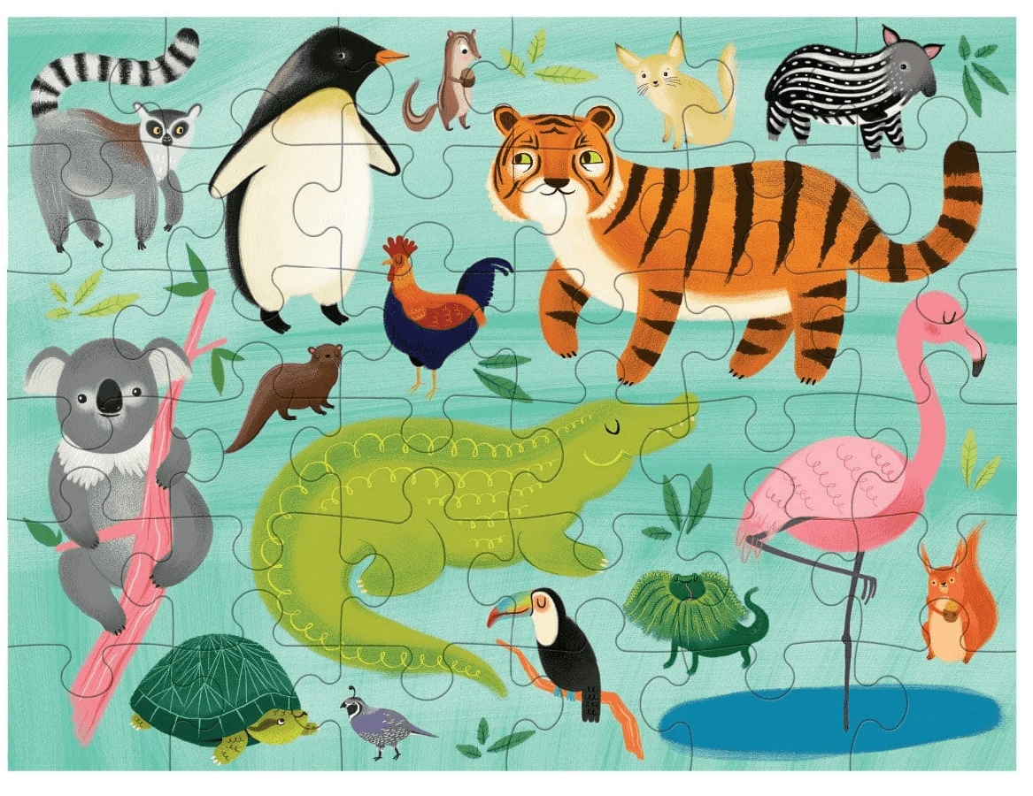Animals Of The World Puzzle To Go Animals Jigsaw Puzzle