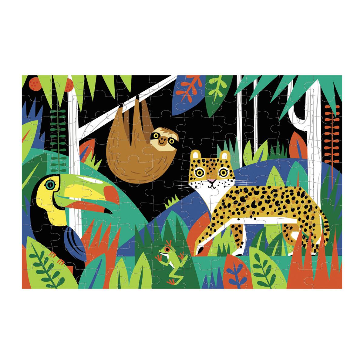Rainforest Jungle Animals Glow in the Dark Puzzle