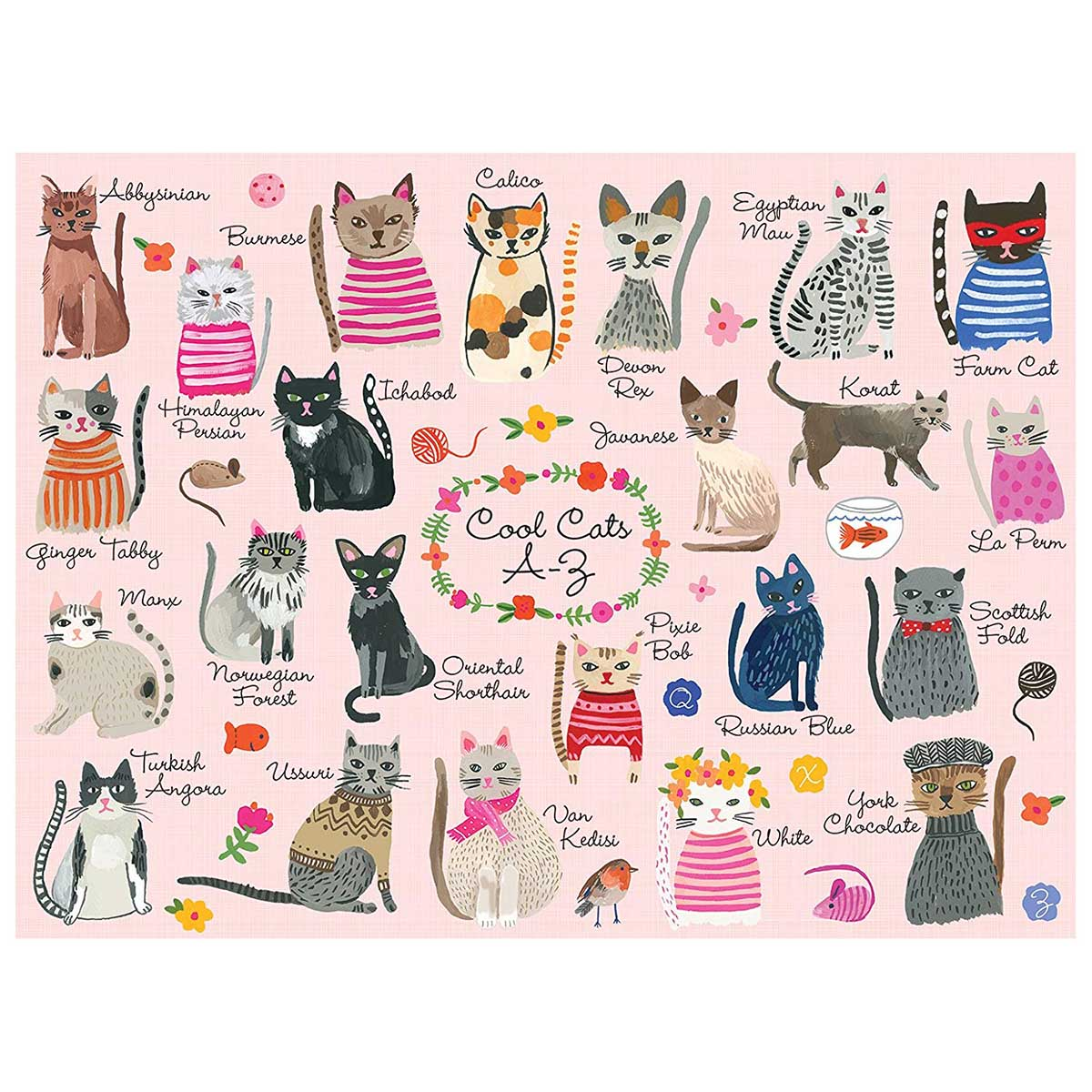 Cool Cats A-Z Cats Jigsaw Puzzle