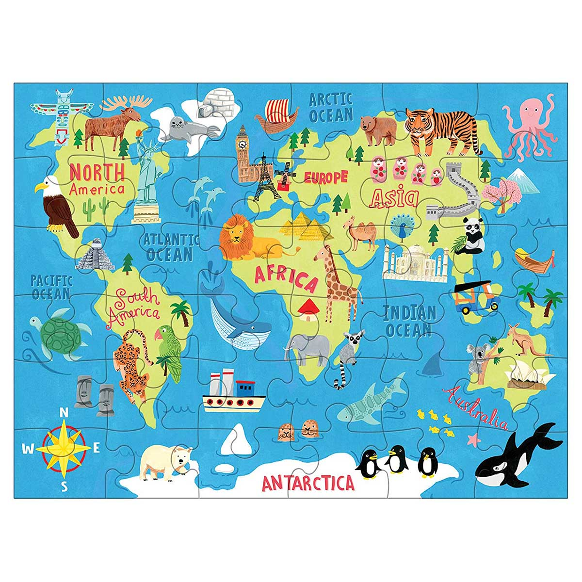 Map of the World Travel Jigsaw Puzzle