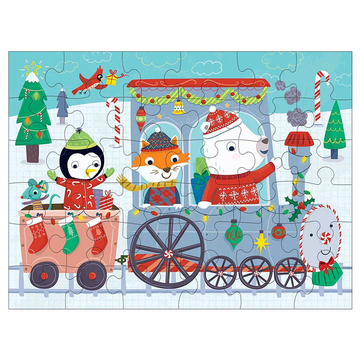 Christmas Train Trains Jigsaw Puzzle