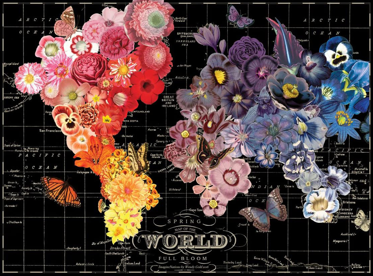 Full Bloom Maps / Geography Jigsaw Puzzle