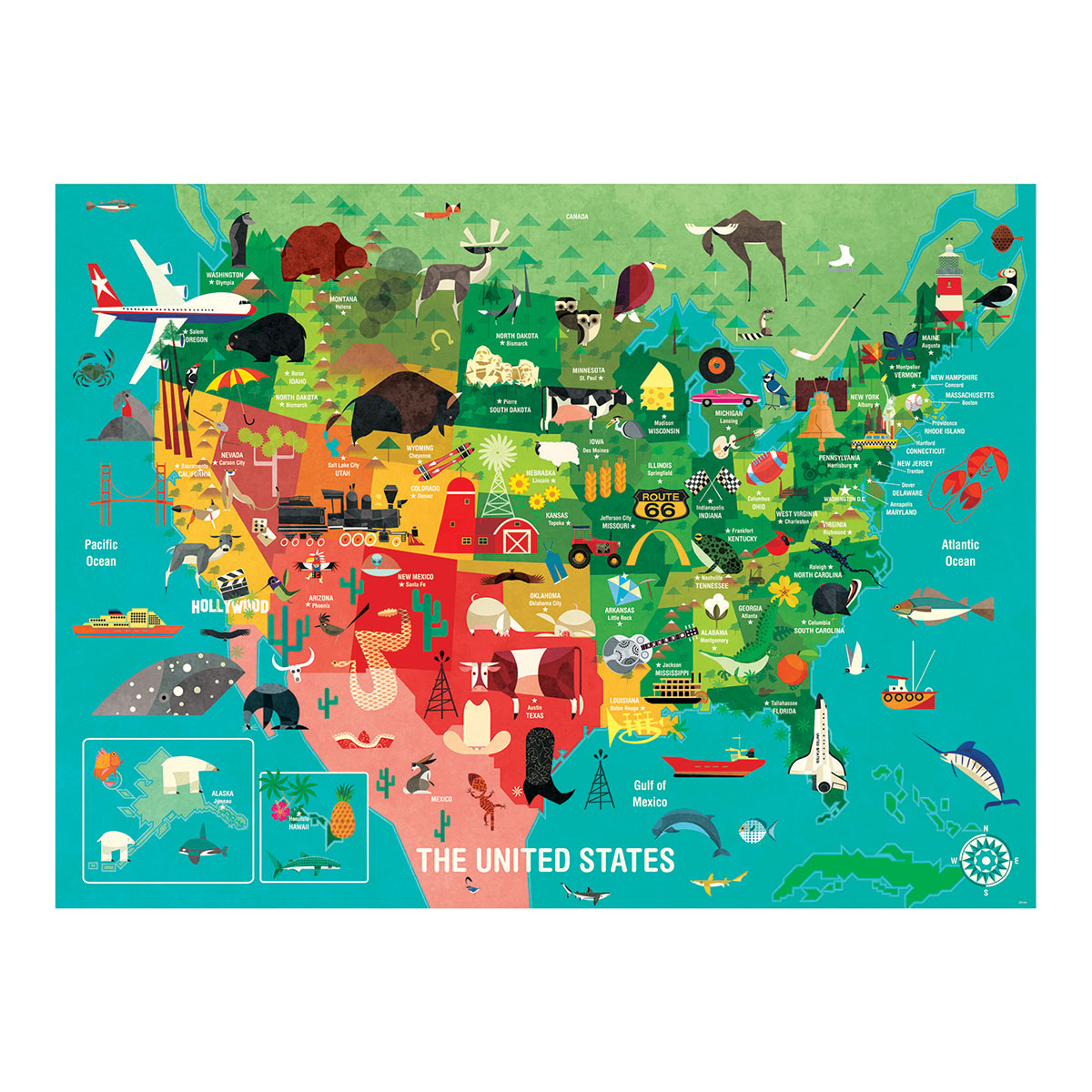 The United States Maps / Geography Jigsaw Puzzle