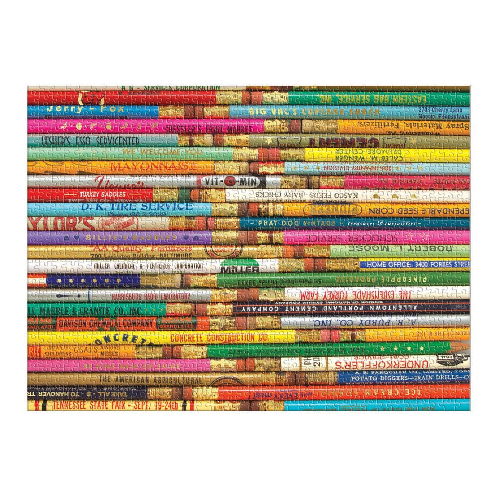 Phat Dog Vintage Pencils Everyday Objects Glitter / Shimmer / Foil Puzzles