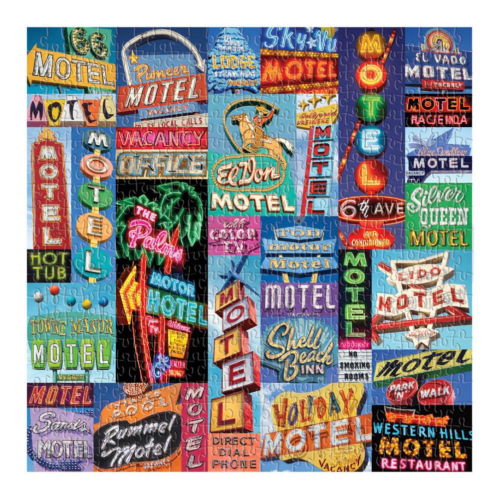 Vintage Motel Signs Nostalgic / Retro Jigsaw Puzzle