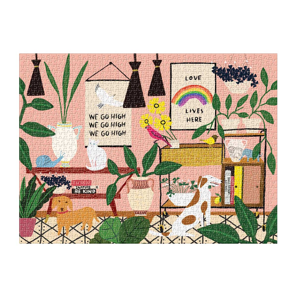 Love Lives Here Domestic Scene Jigsaw Puzzle