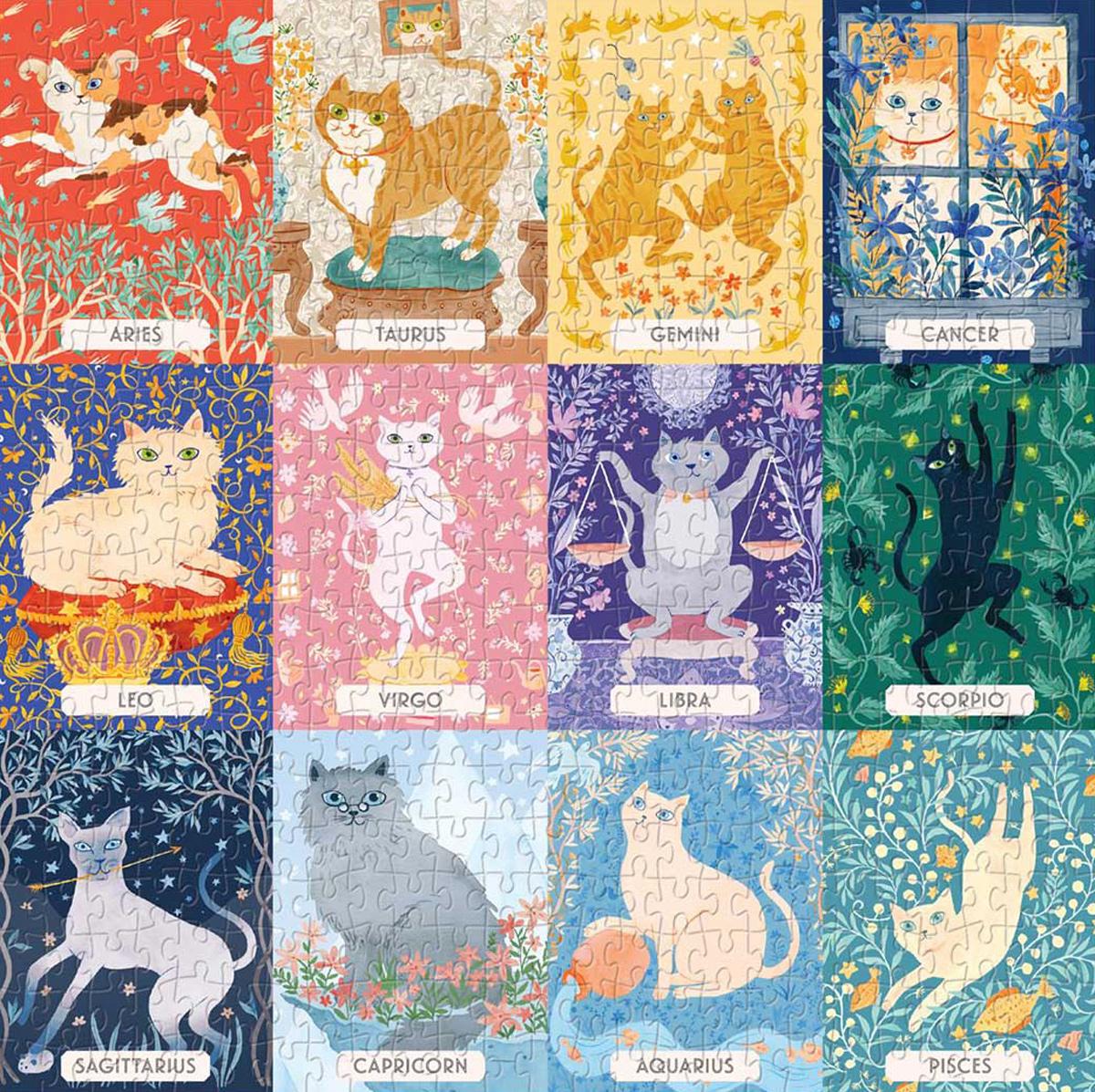 Cat Zodiac Cats Jigsaw Puzzle
