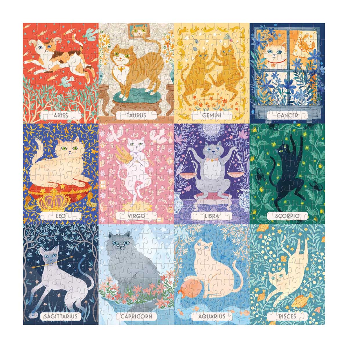 Cat Zodiac Cats Jigsaw Puzzle