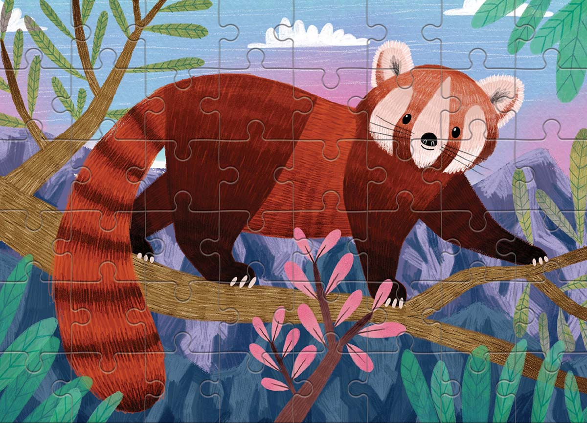 Red Panda (Mini) Jungle Animals Jigsaw Puzzle