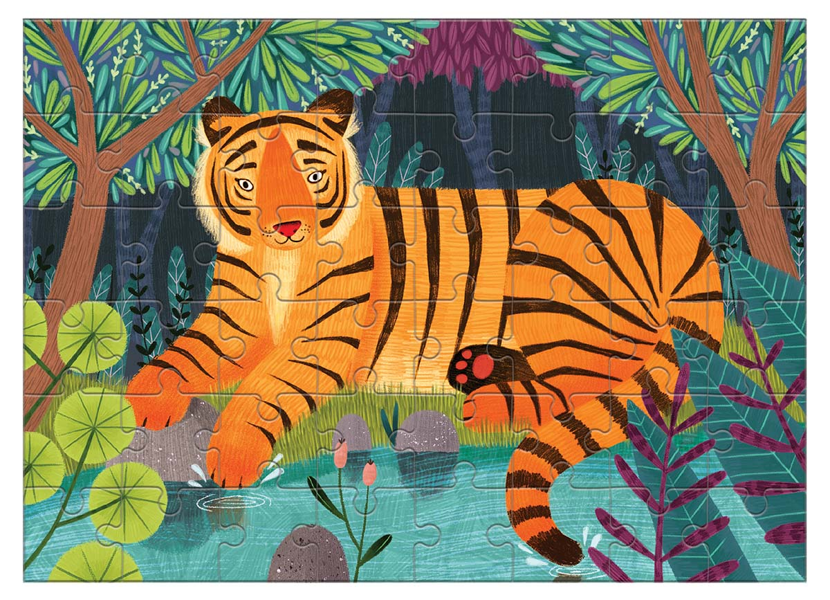 Bengal Tiger (Mini) Jungle Animals Jigsaw Puzzle