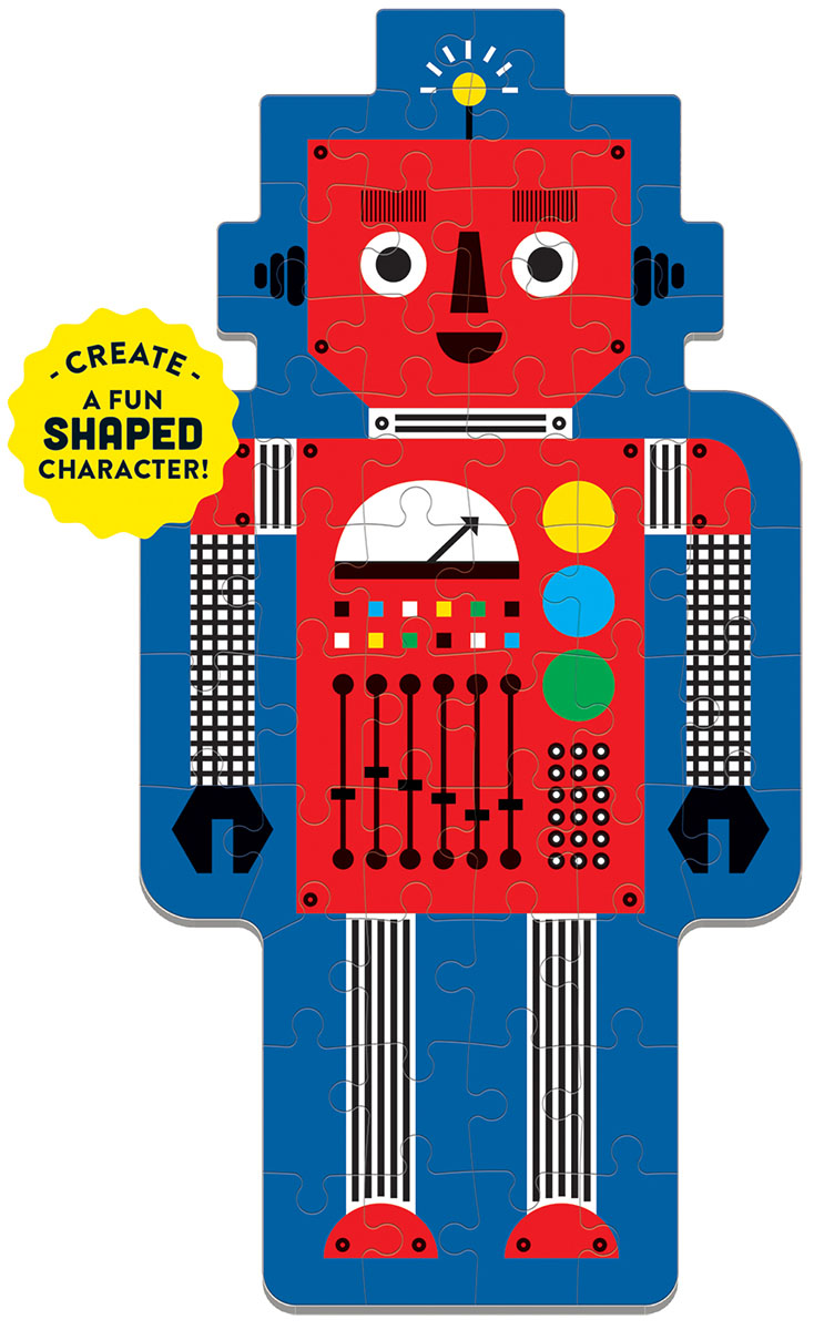 Robot Graphics / Illustration Shaped Puzzle