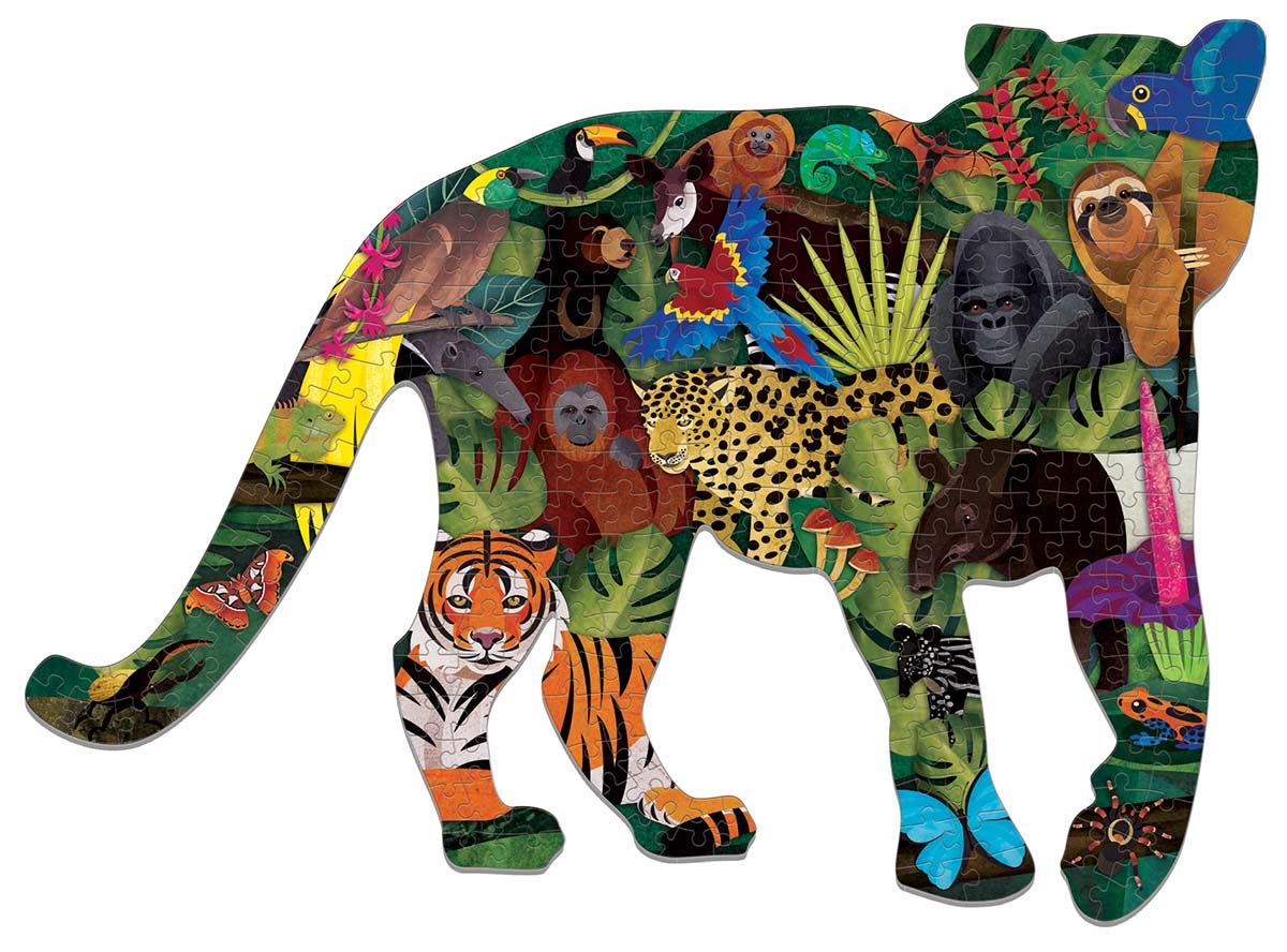 Rainforest Jungle Animals Shaped Puzzle
