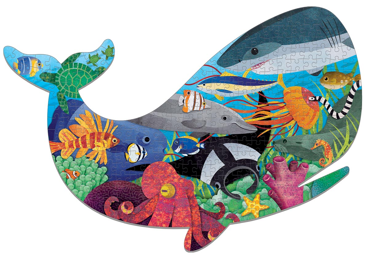Ocean Life Under The Sea Shaped Puzzle