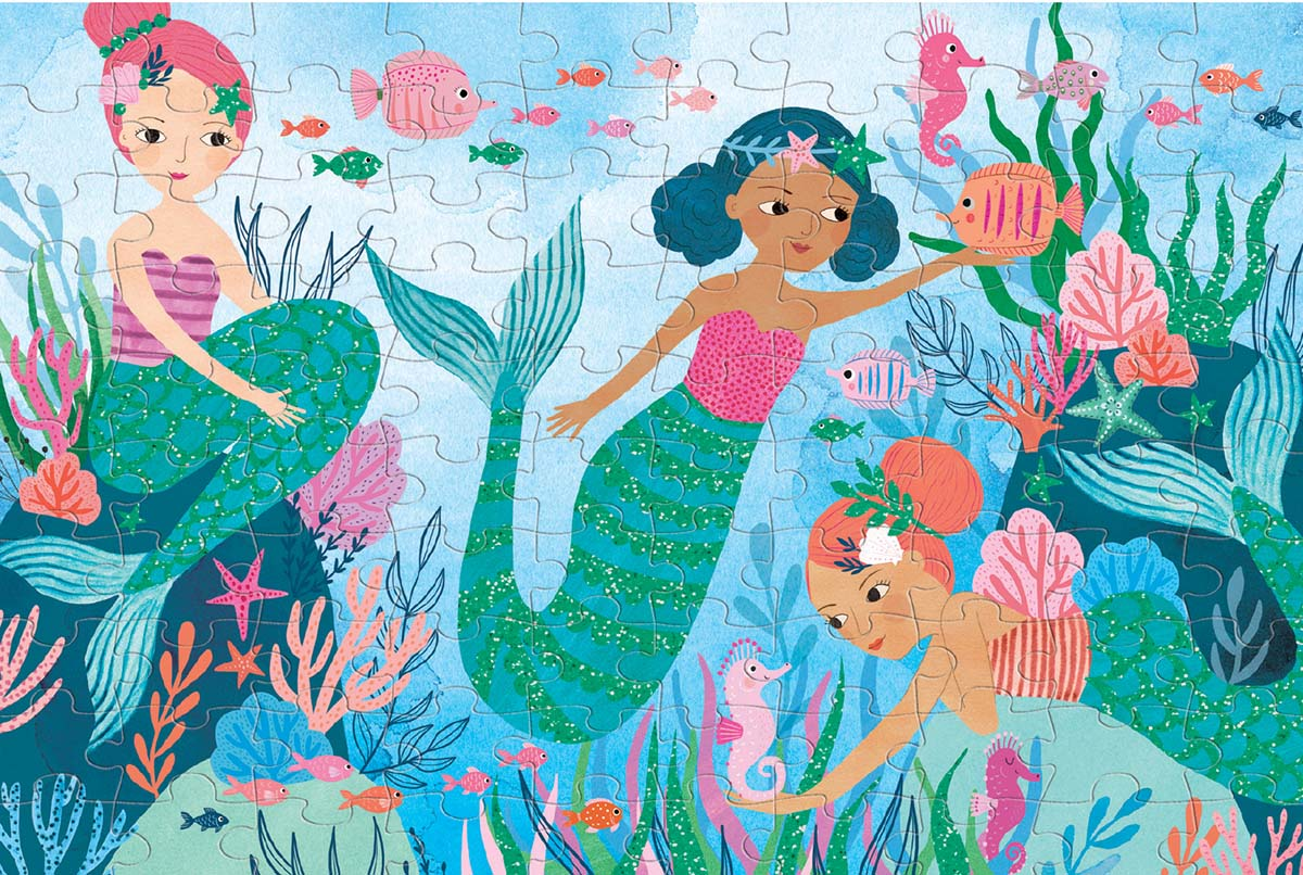 Mermaids Under The Sea Glitter / Shimmer / Foil Puzzles