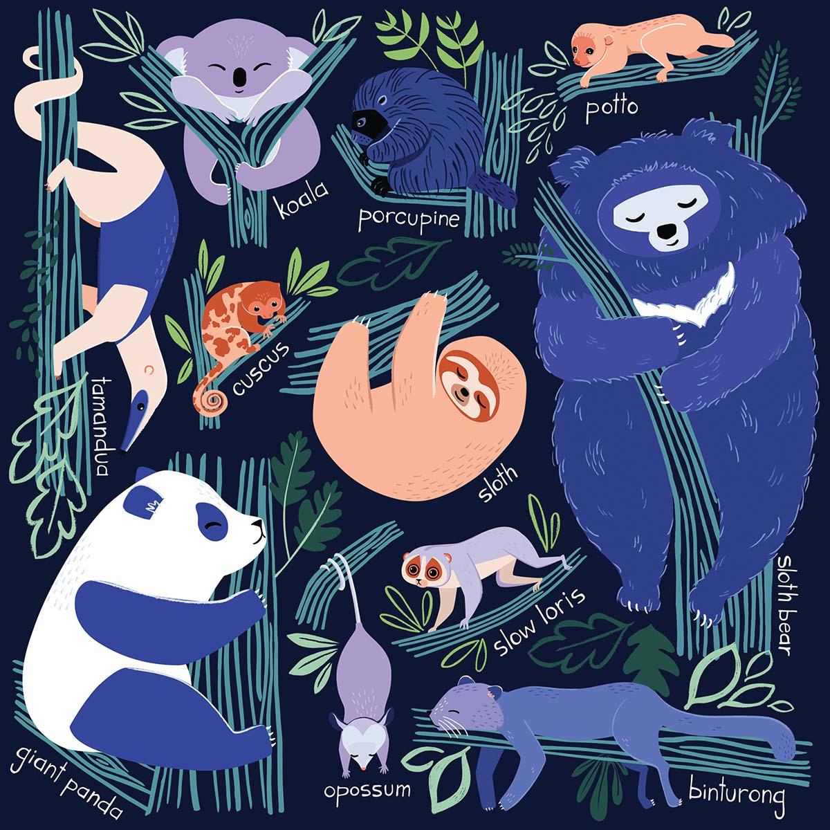 Tree Dwelling Slowpokes Jungle Animals Jigsaw Puzzle