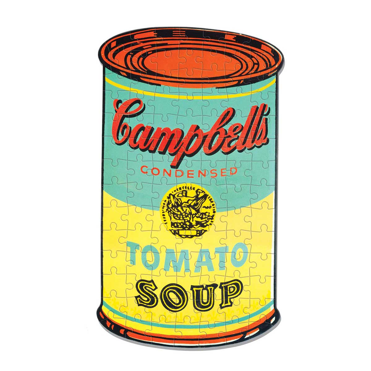 Andy Warhol Campbell's Soup Fine Art Shaped Puzzle