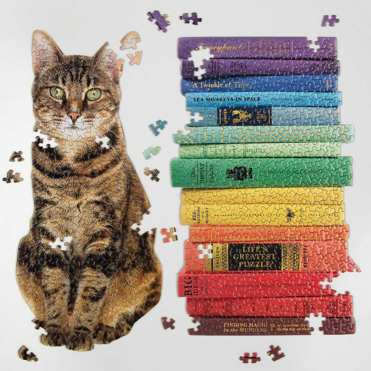 Queen of the Stacks Cats Shaped Puzzle