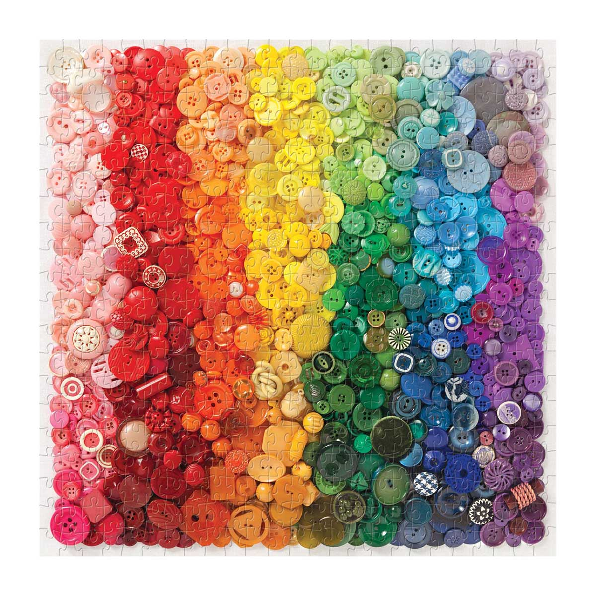 Rainbow Buttons Abstract Jigsaw Puzzle