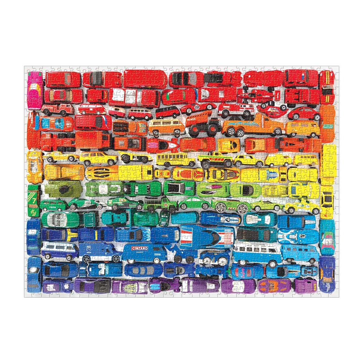 Rainbow Toy Cars Cars Jigsaw Puzzle