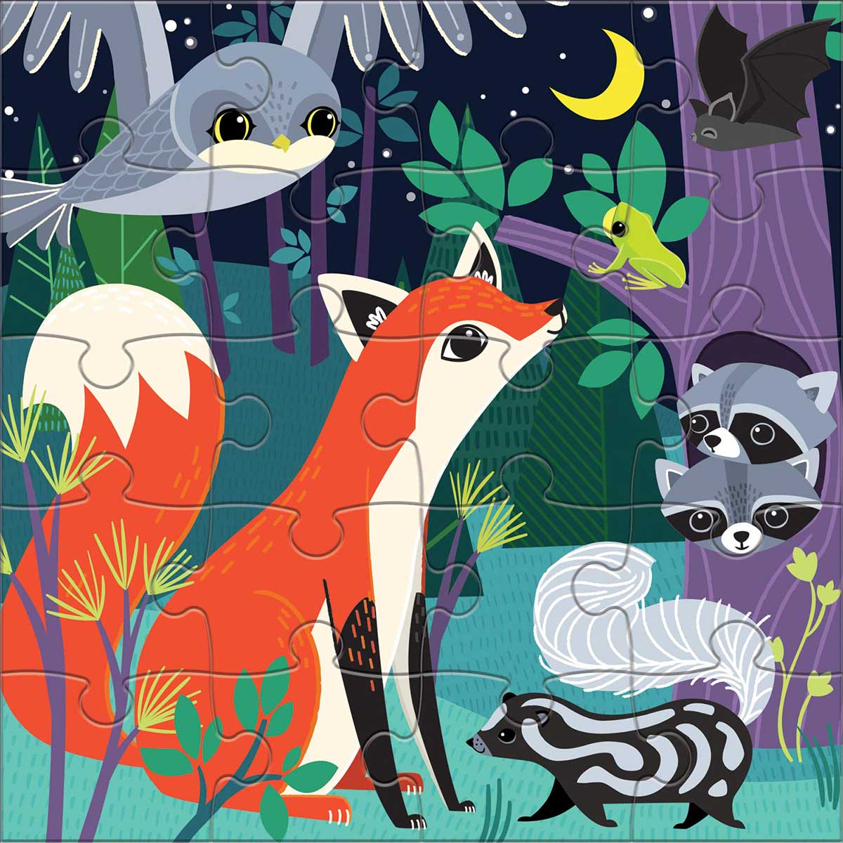 Forest Night & Day Animals Jigsaw Puzzle