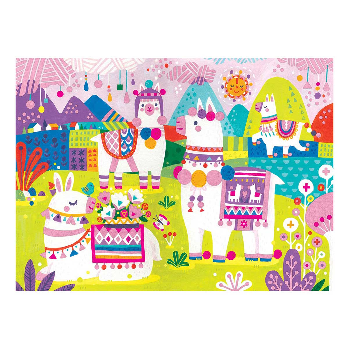 Llama Land Fuzzy Animals Jigsaw Puzzle