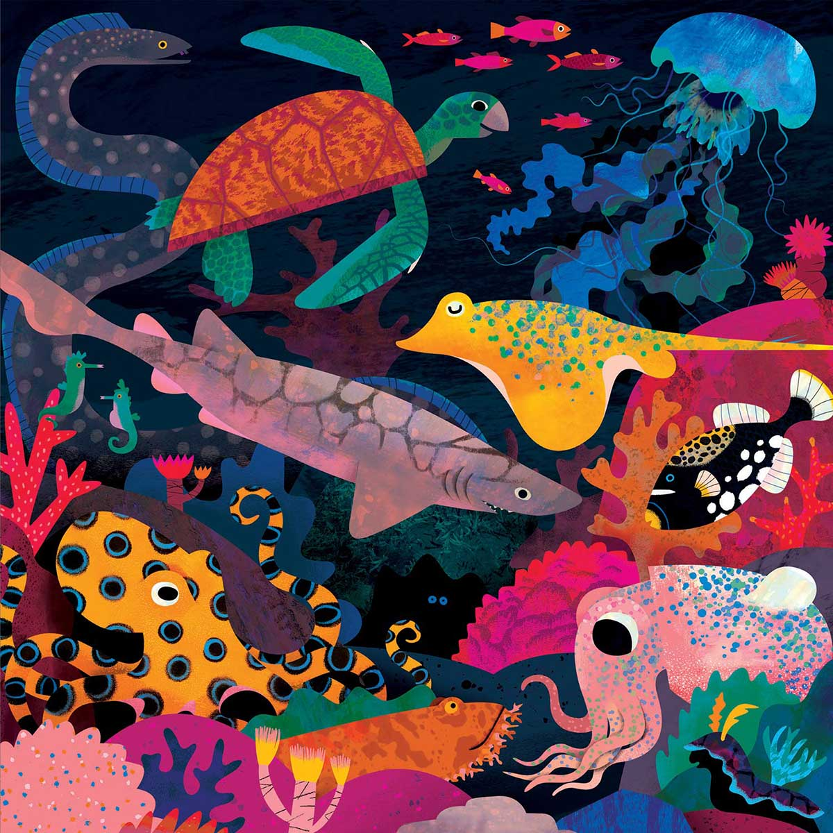 Ocean Illuminated Animals Glow in the Dark Puzzle