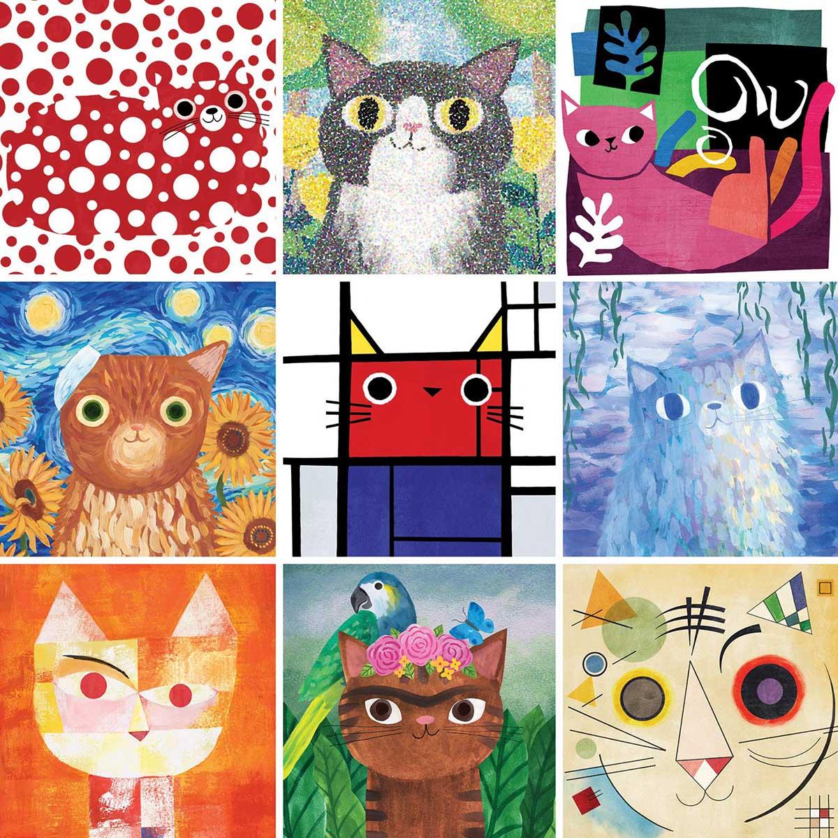 Artsy Cats Cats Jigsaw Puzzle