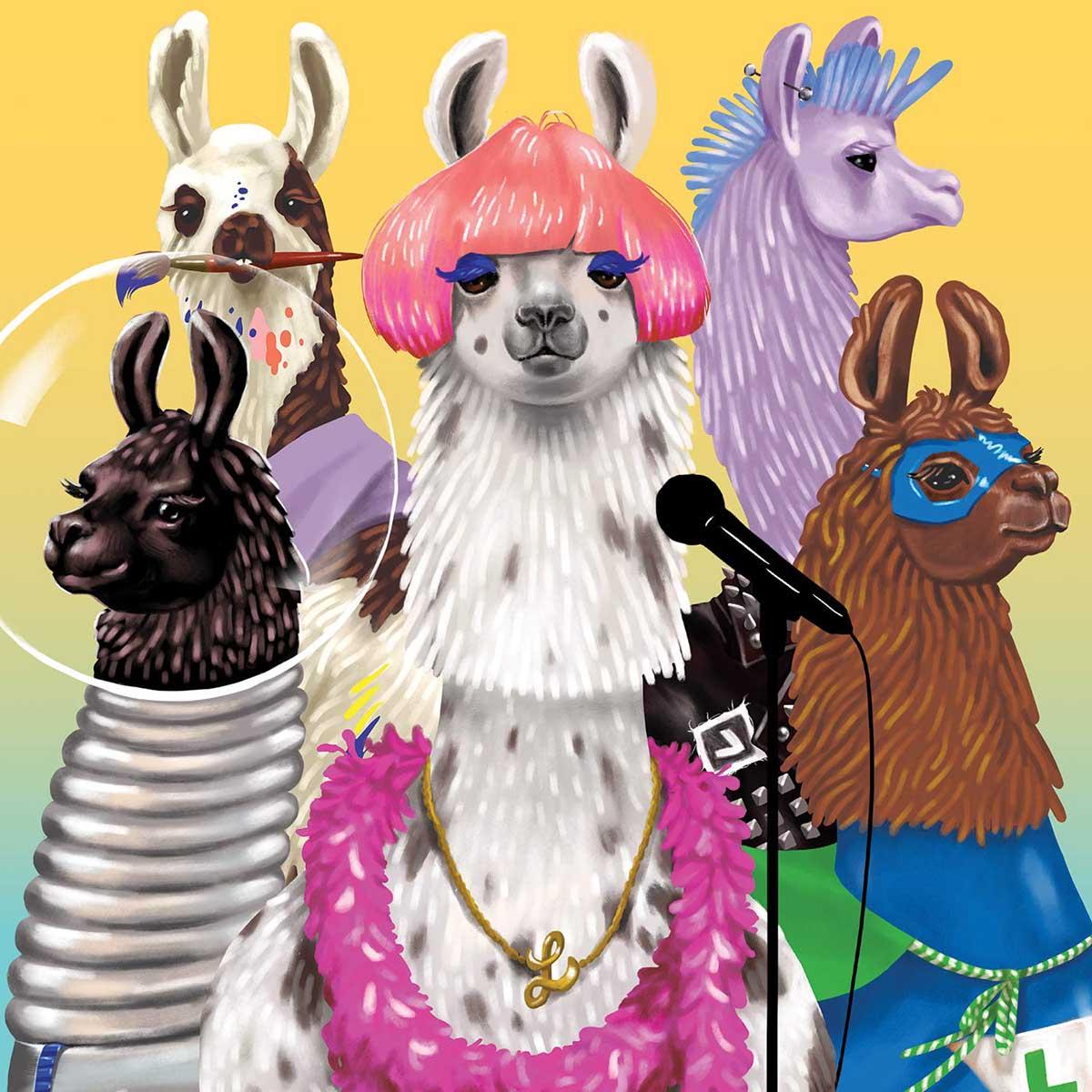 Llama Rama Animals Jigsaw Puzzle