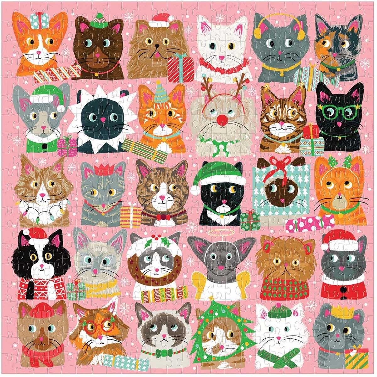 Festive Furballs Cats Jigsaw Puzzle