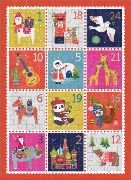 Holiday Stamps (Mini) Winter Jigsaw Puzzle