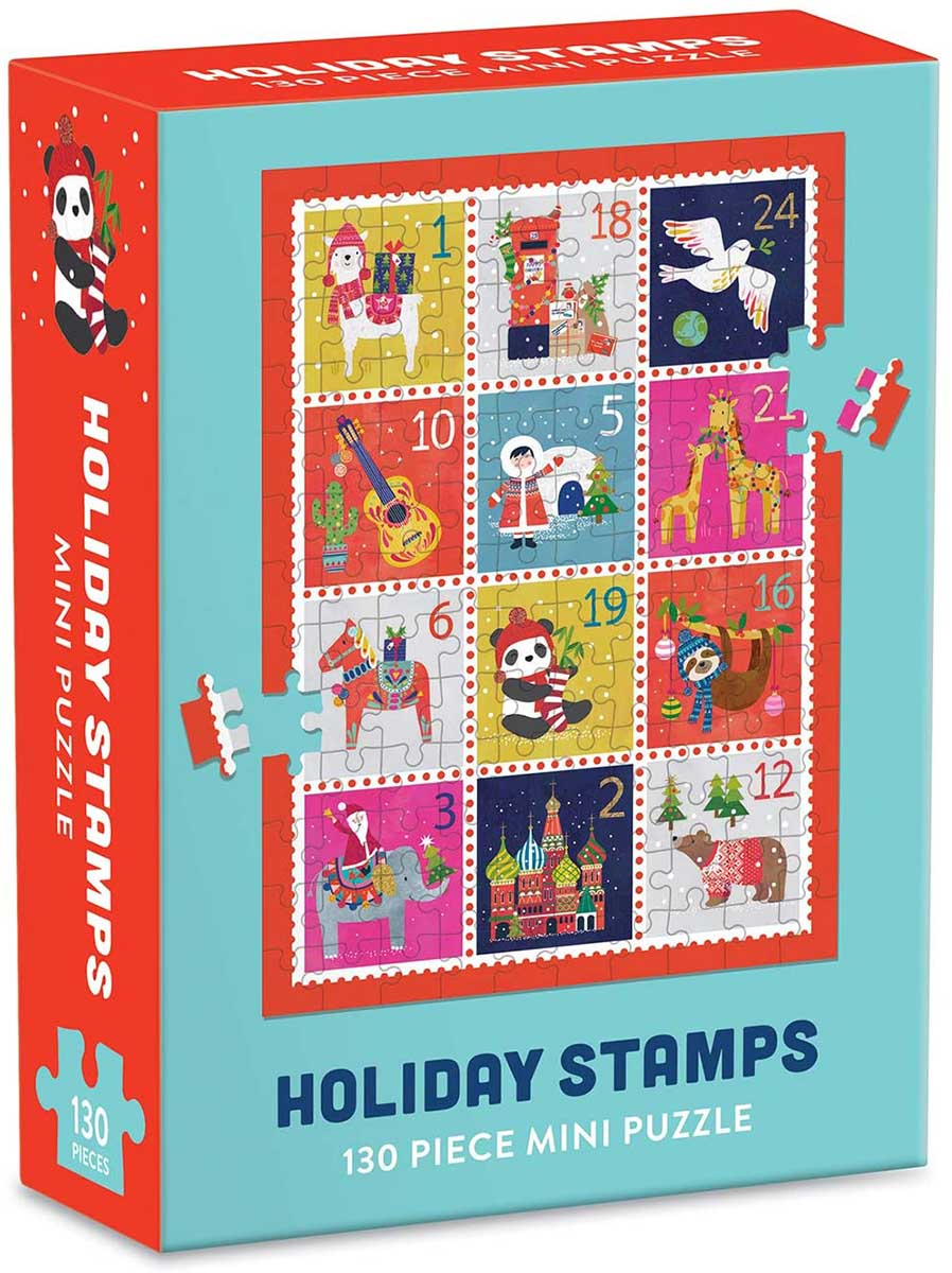 Holiday Stamps Winter Jigsaw Puzzle