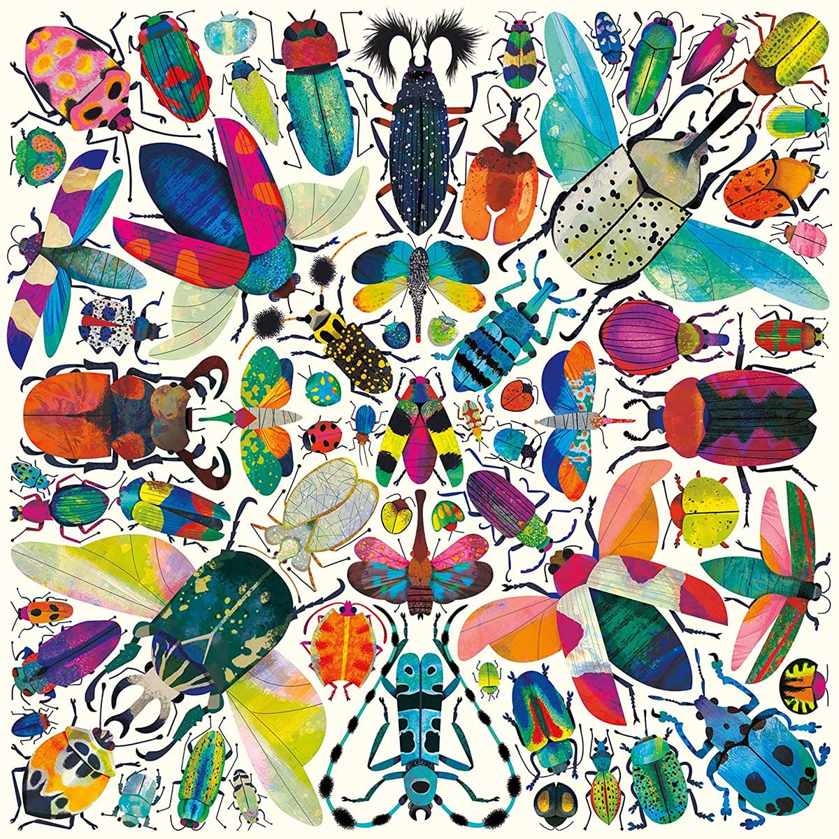 Kaleido Beetles Butterflies and Insects Jigsaw Puzzle