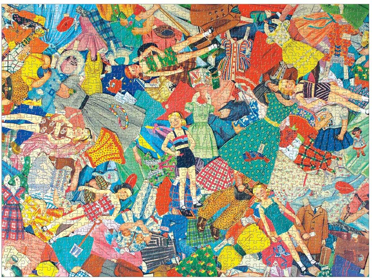 Vintage Paper Dolls Nostalgic / Retro Jigsaw Puzzle