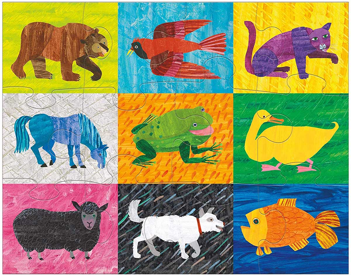 World of Eric Carle Brown Bear, Brown Bear, What Do You See? Animals Jigsaw Puzzle