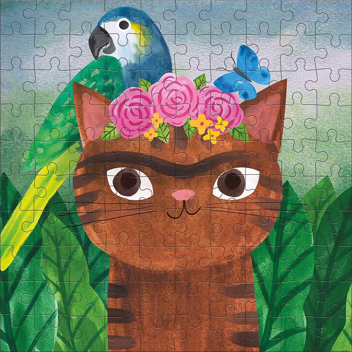 Frida Catlo Artsy Cats Cats Jigsaw Puzzle