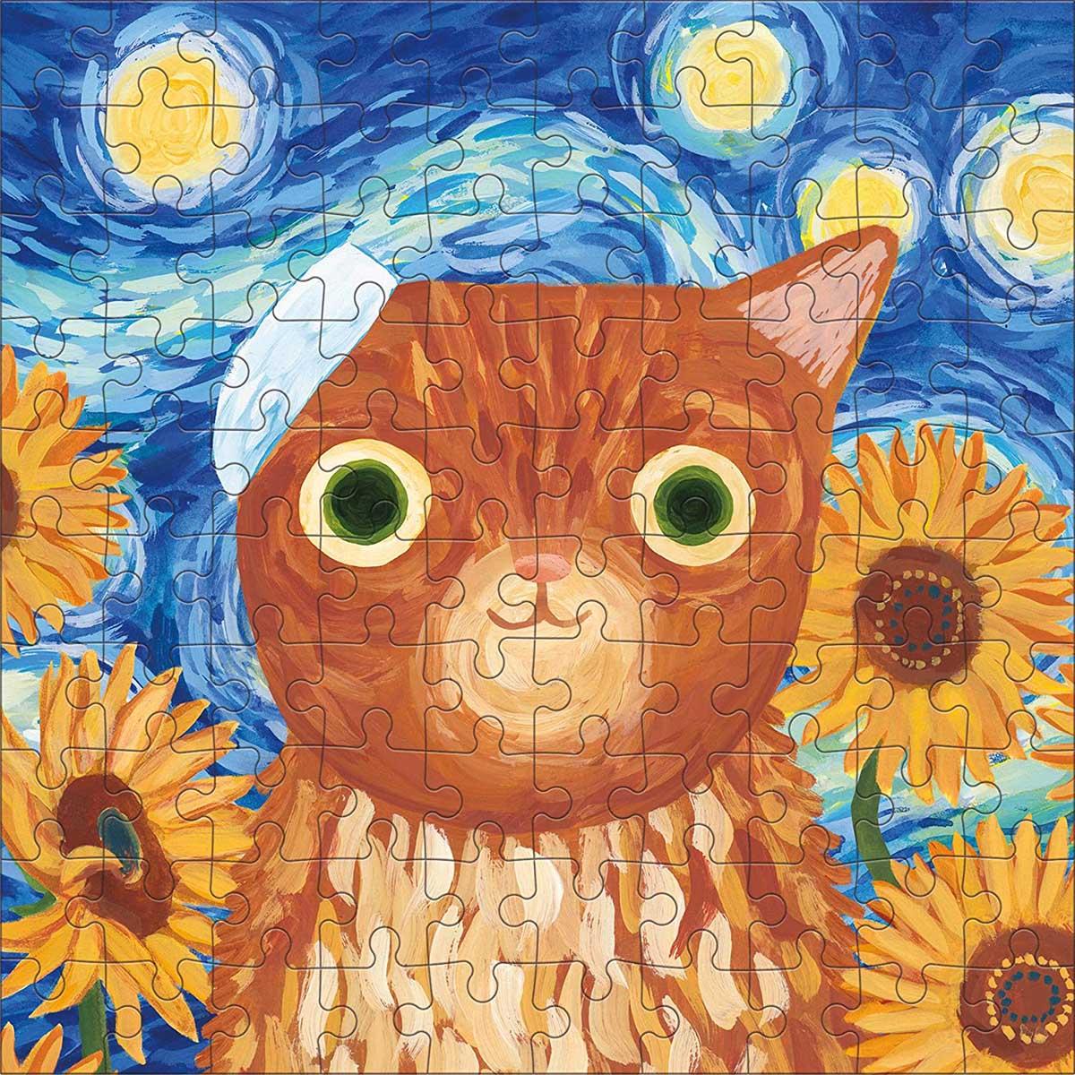 Vincat van Gogh Artsy Cats Cats Jigsaw Puzzle