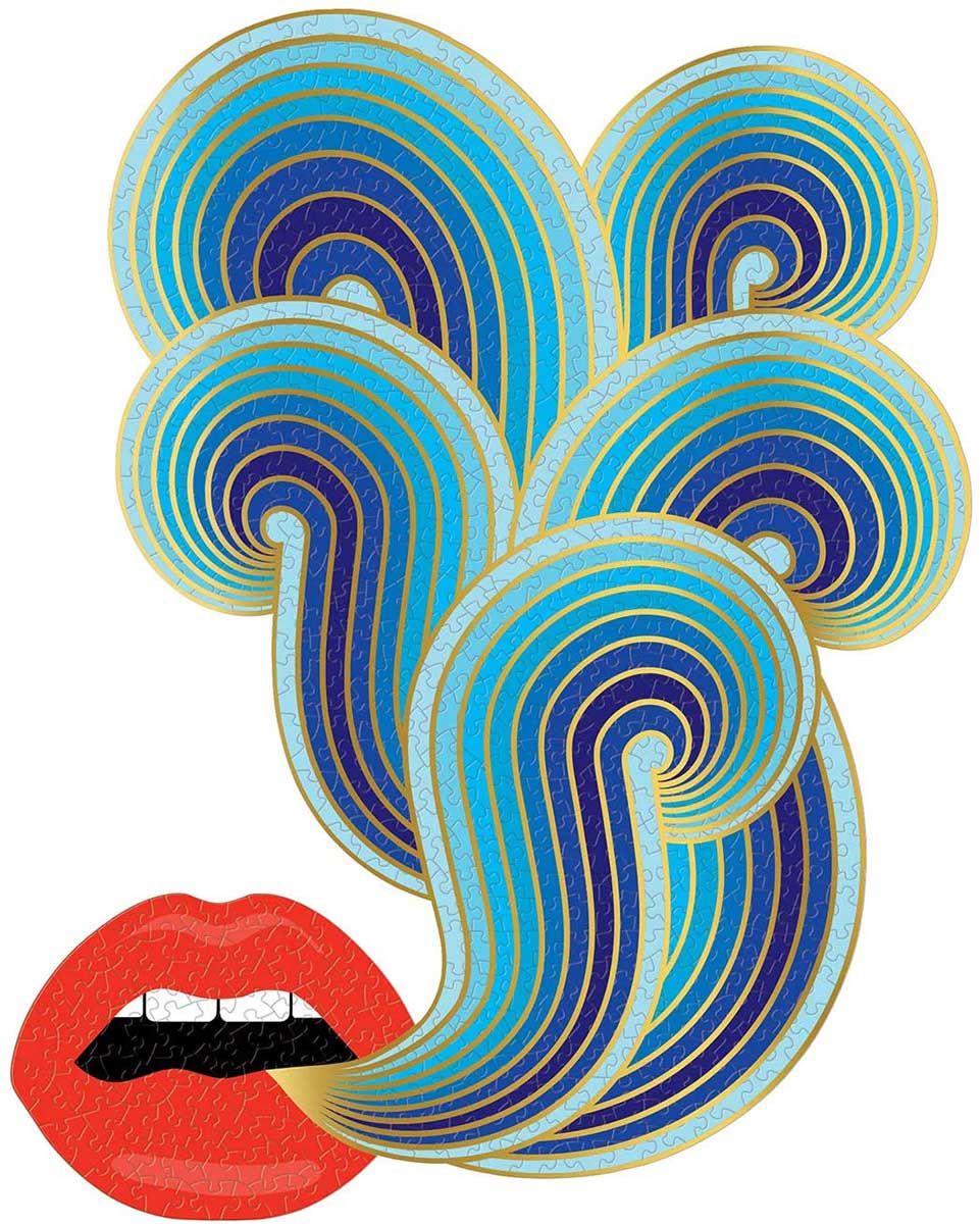 Jonathan Adler Lips Abstract Shaped Puzzle