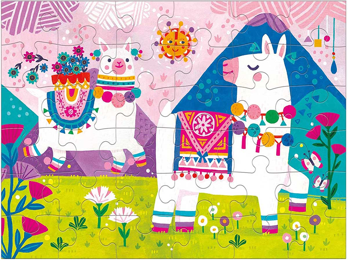 Llama Land Animals Jigsaw Puzzle