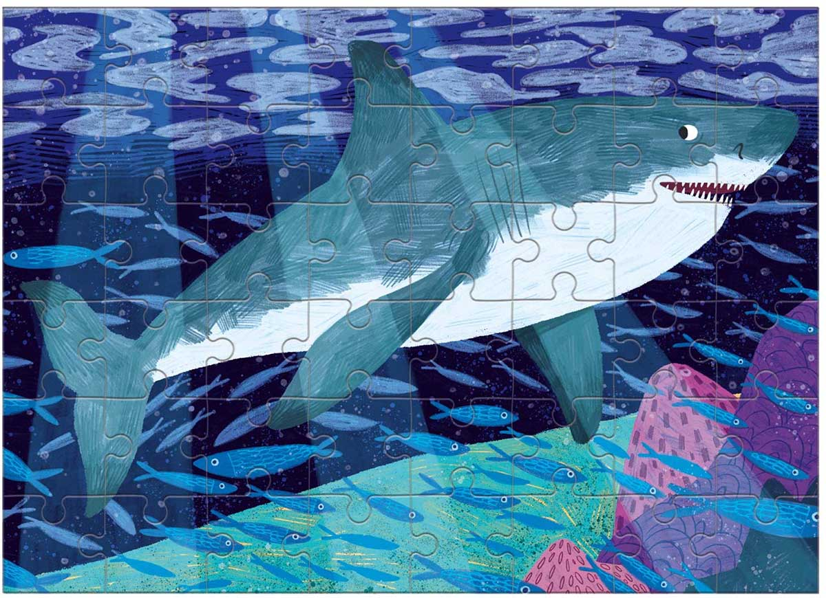 Great White Shark (Mini) Under The Sea Jigsaw Puzzle