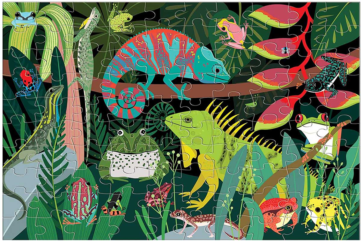 Frogs & Lizards Reptiles / Amphibians Glow in the Dark Puzzle