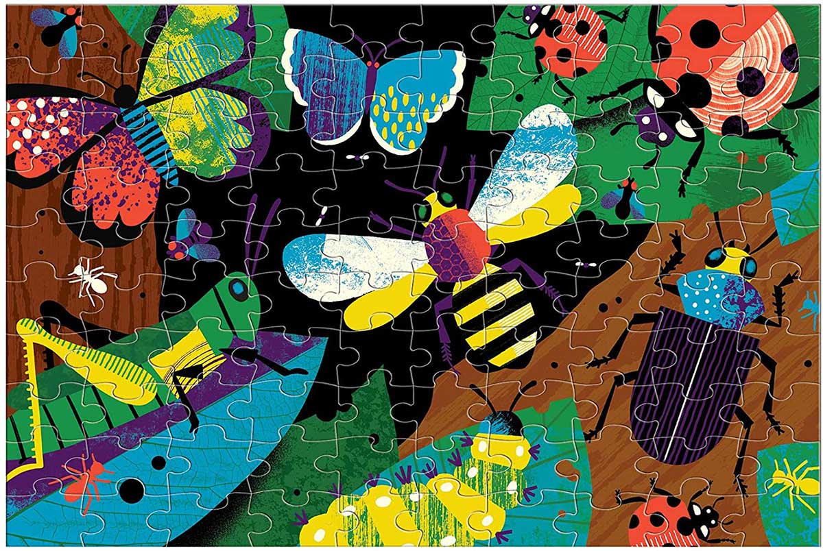 Amazing Insects Butterflies and Insects Glow in the Dark Puzzle