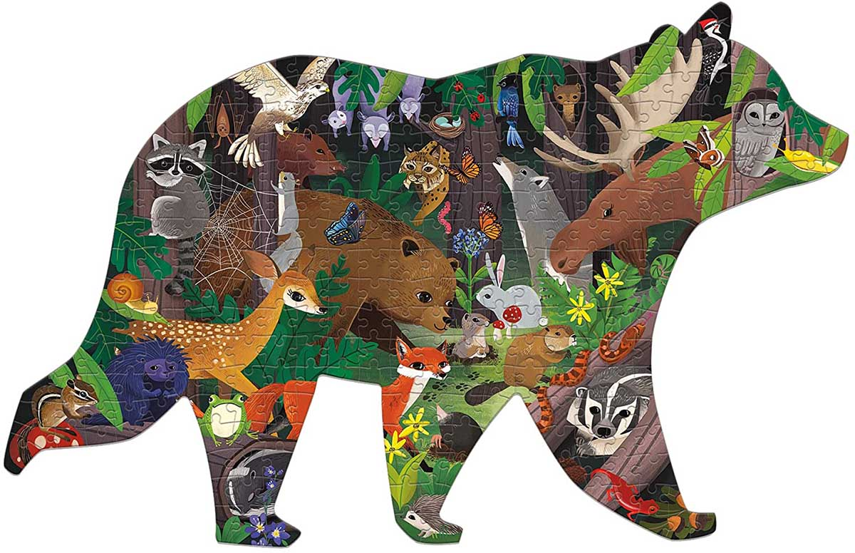 Woodland Forest Animals Shaped Puzzle