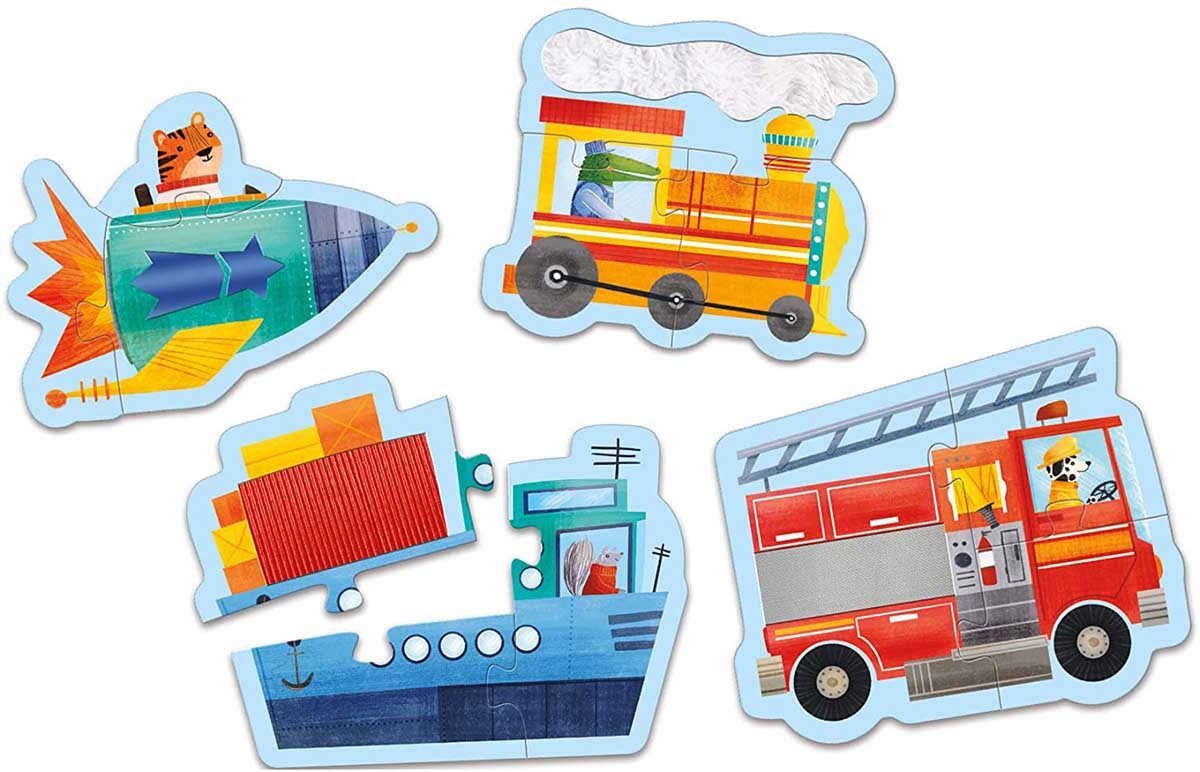 Transportation Animals Shaped Puzzle