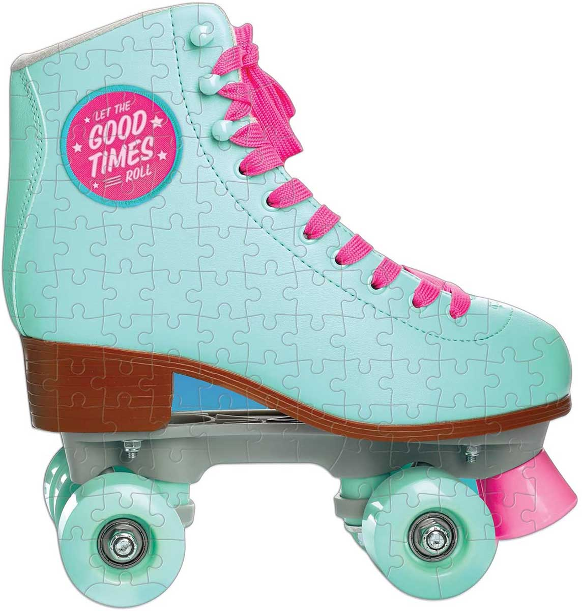 Let The Good Times Roll Roller Skate Everyday Objects Shaped Puzzle
