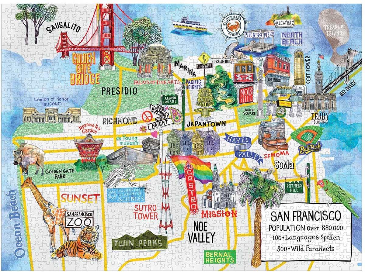 San Francisco Landmarks / Monuments Jigsaw Puzzle