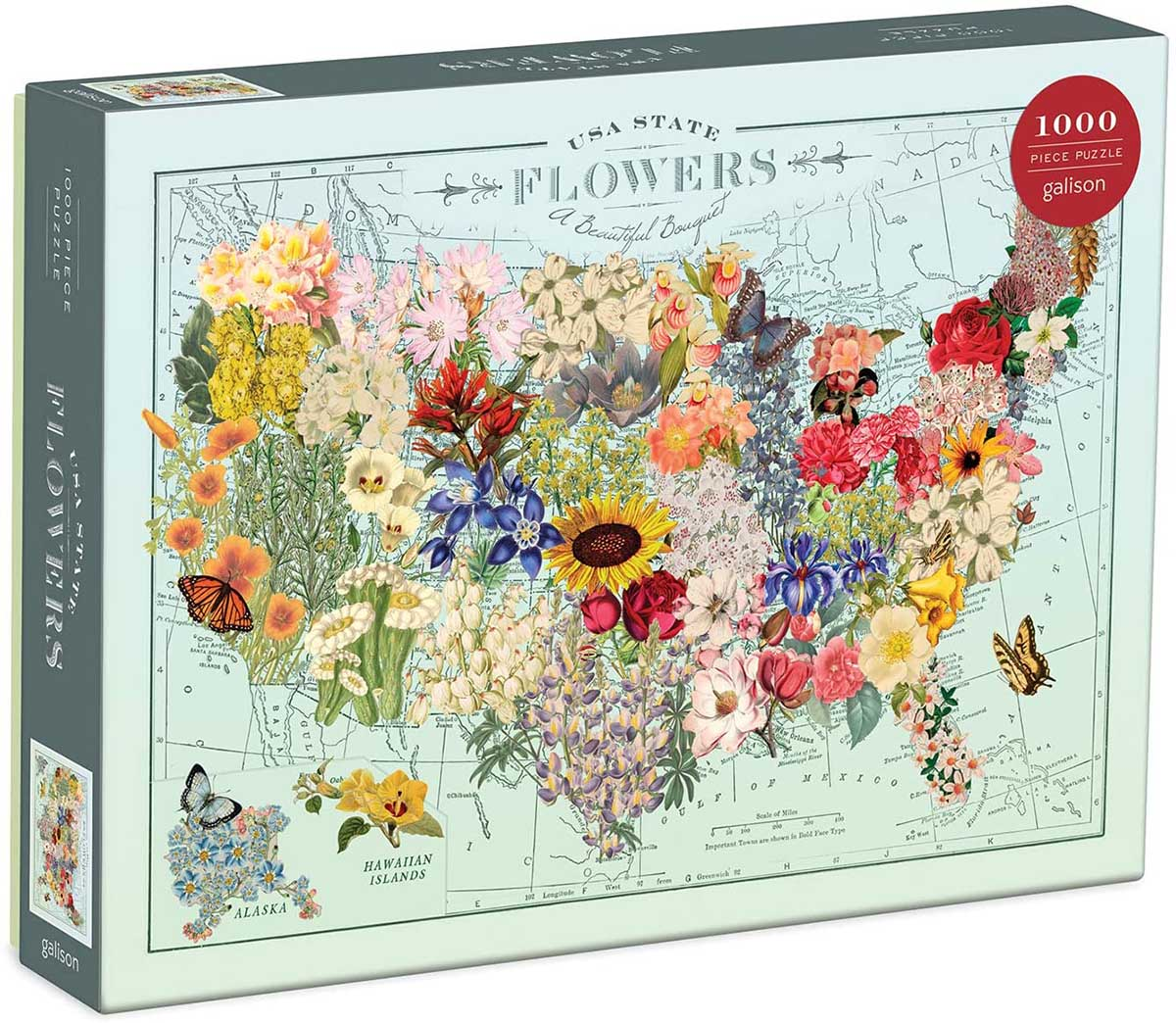 Wendy Gold USA State Flowers Flowers Jigsaw Puzzle