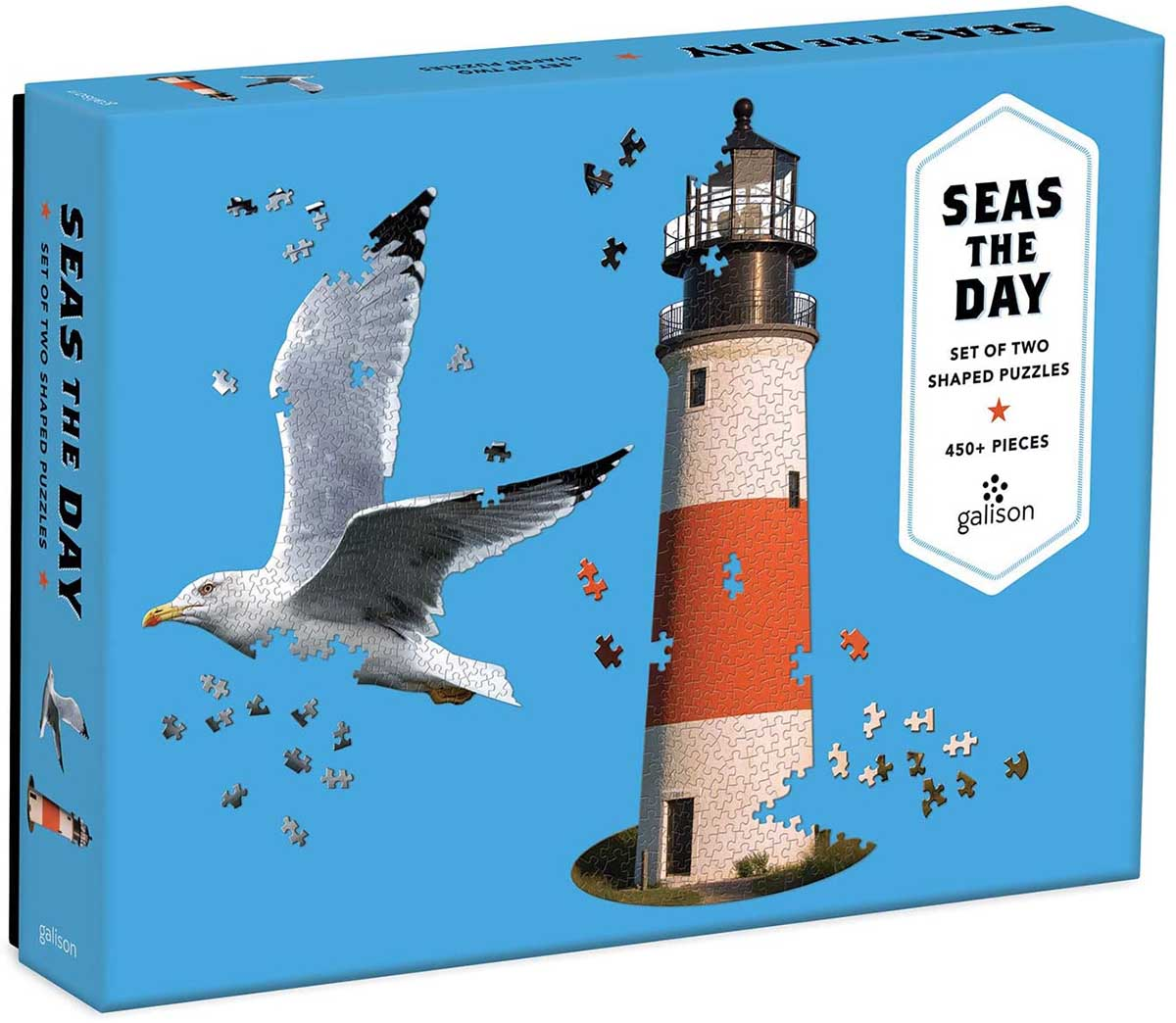 Seas The Day Lighthouses Shaped Puzzle