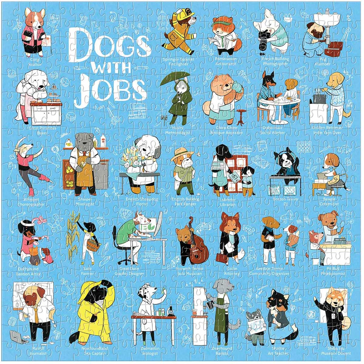 Dogs With Jobs Dogs Jigsaw Puzzle